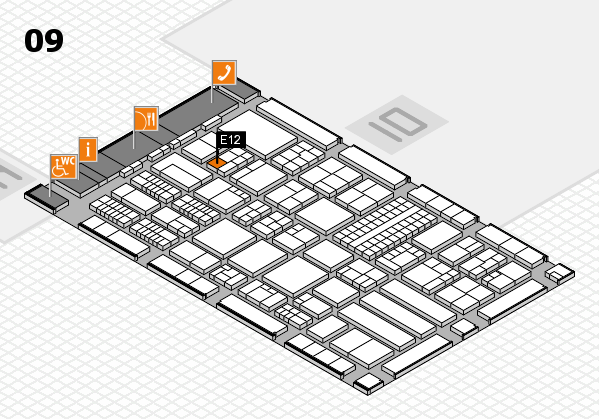 ProWein 2018 hall map (Hall 9): stand E12