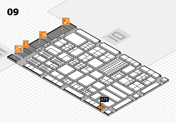 ProWein 2018 Hallenplan (Halle 9): Stand A75