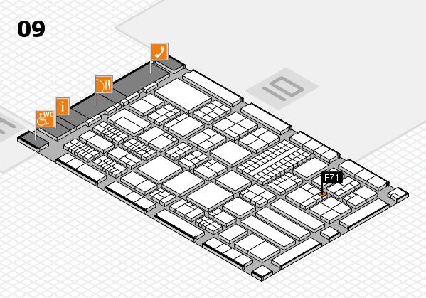 ProWein 2018 Hallenplan (Halle 9): Stand F71