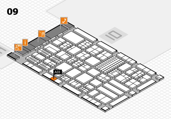 ProWein 2018 Hallenplan (Halle 9): Stand A33