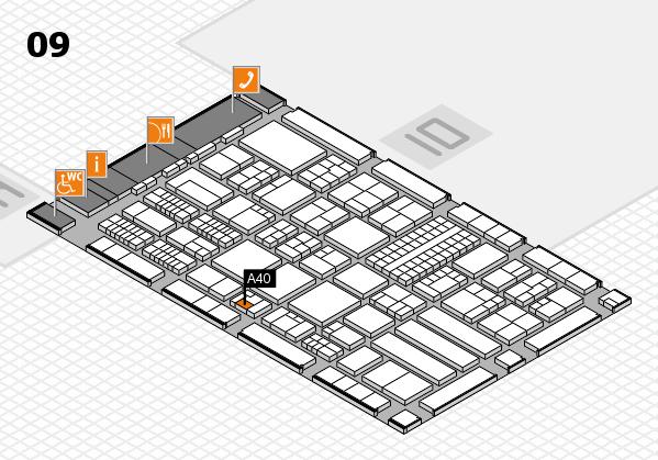 ProWein 2018 Hallenplan (Halle 9): Stand A40