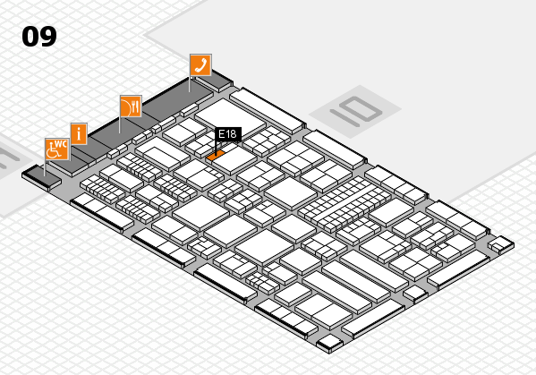 ProWein 2018 Hallenplan (Halle 9): Stand E18
