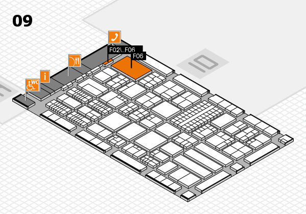 ProWein 2018 hall map (Hall 9): stand F02, stand F06