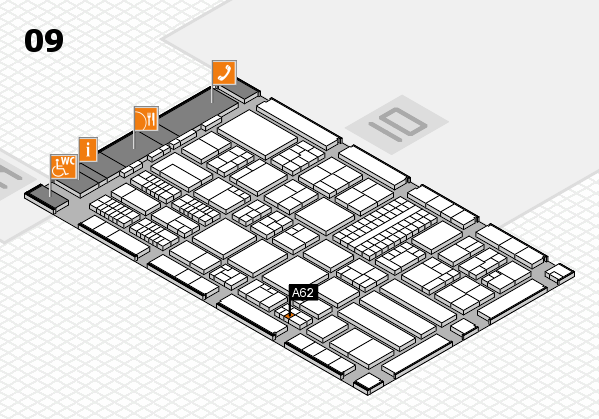 ProWein 2018 hall map (Hall 9): stand A62