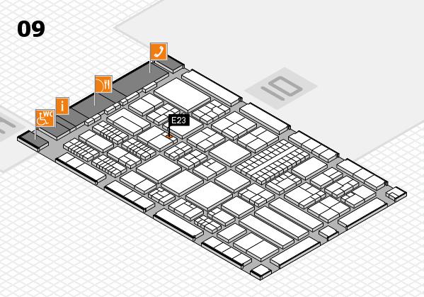 ProWein 2018 Hallenplan (Halle 9): Stand E23