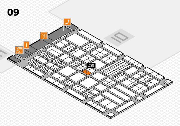ProWein 2018 Hallenplan (Halle 9): Stand D38