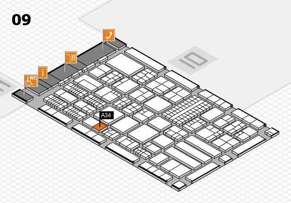 ProWein 2018 Hallenplan (Halle 9): Stand A34