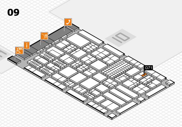 ProWein 2018 Hallenplan (Halle 9): Stand G71
