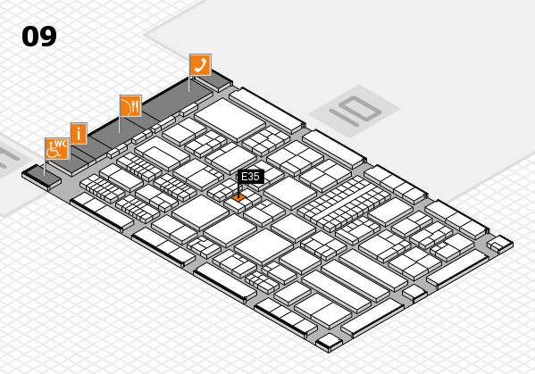 ProWein 2018 Hallenplan (Halle 9): Stand E35