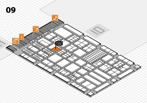 ProWein 2018 Hallenplan (Halle 9): Stand D22