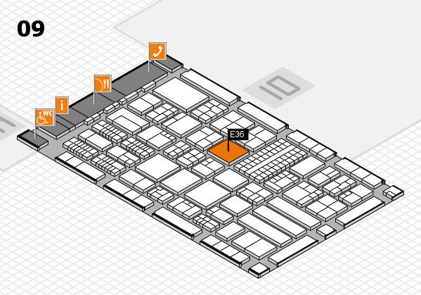 ProWein 2018 hall map (Hall 9): stand E36