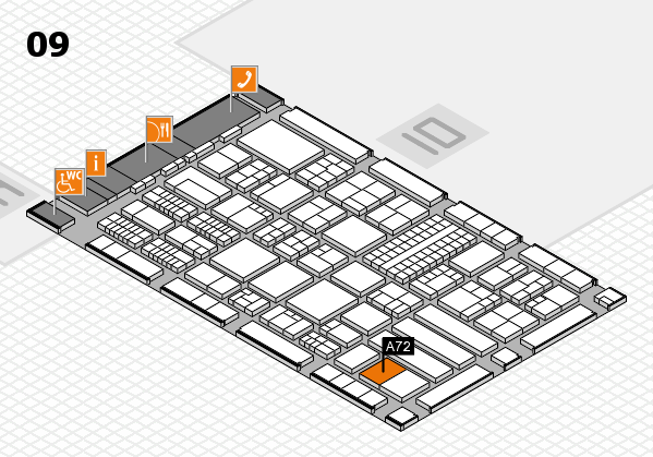 ProWein 2018 hall map (Hall 9): stand A72
