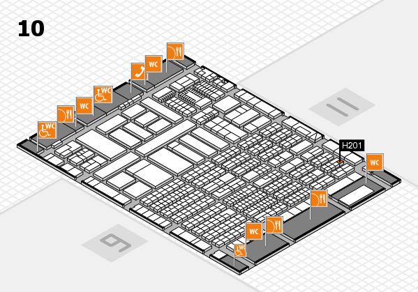 ProWein 2018 Hallenplan (Halle 10): Stand H201