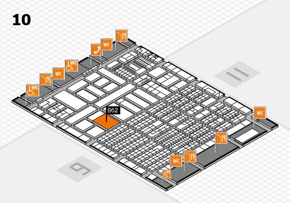 ProWein 2018 Hallenplan (Halle 10): Stand B62