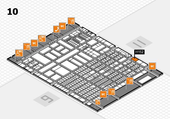 ProWein 2018 Hallenplan (Halle 10): Stand H152
