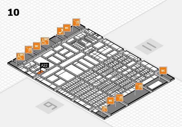 ProWein 2018 Hallenplan (Halle 10): Stand A22