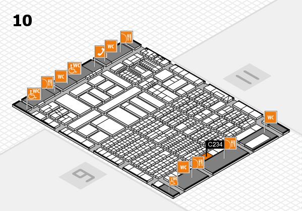 ProWein 2018 Hallenplan (Halle 10): Stand C234
