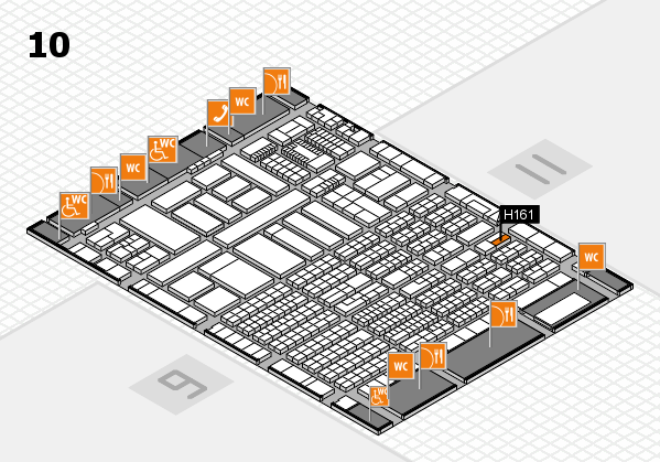 ProWein 2018 hall map (Hall 10): stand H161