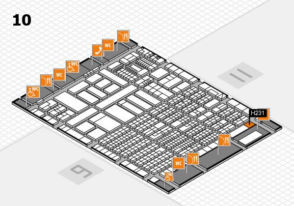 ProWein 2018 Hallenplan (Halle 10): Stand H231
