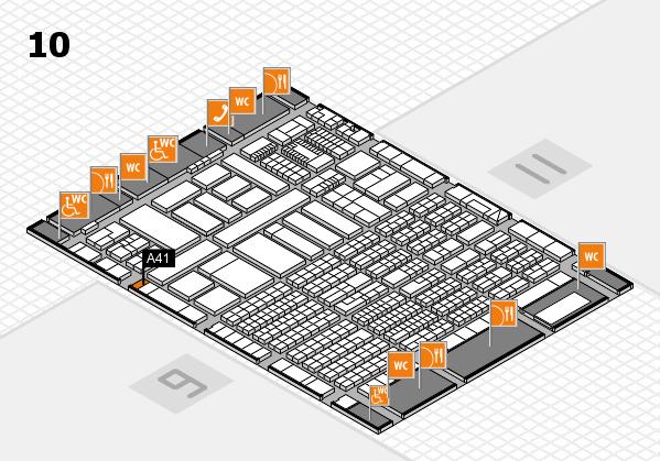 ProWein 2018 Hallenplan (Halle 10): Stand A41