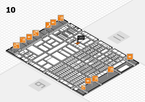 ProWein 2018 Hallenplan (Halle 10): Stand G53