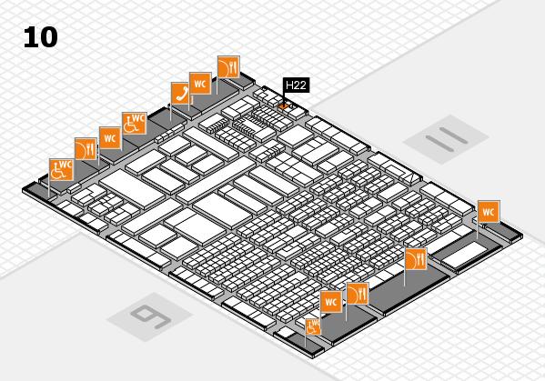 ProWein 2018 Hallenplan (Halle 10): Stand H22