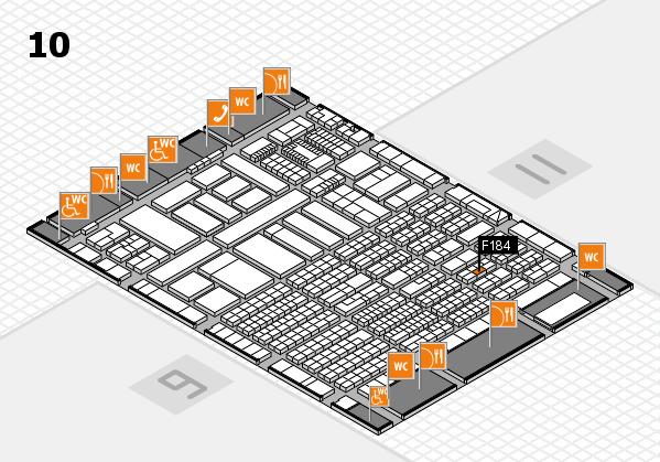 ProWein 2018 Hallenplan (Halle 10): Stand F184