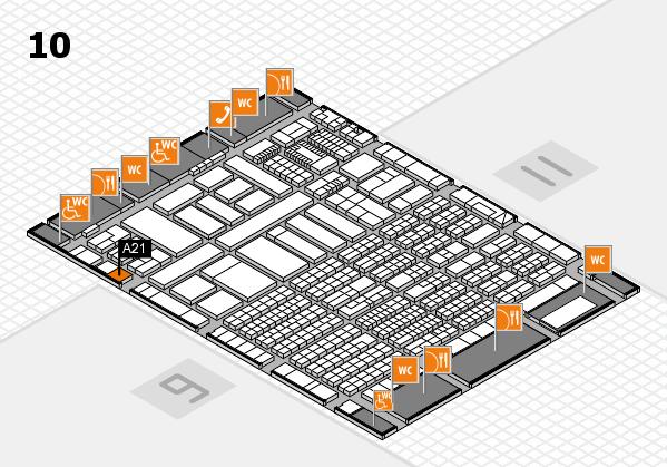 ProWein 2018 Hallenplan (Halle 10): Stand A21