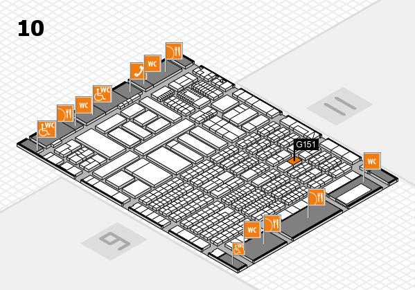 ProWein 2018 Hallenplan (Halle 10): Stand G151