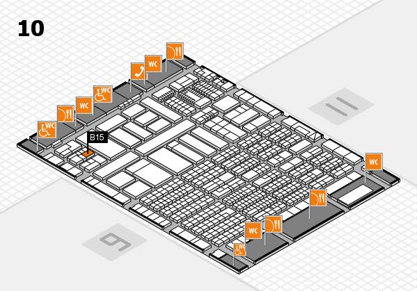 ProWein 2018 Hallenplan (Halle 10): Stand B15