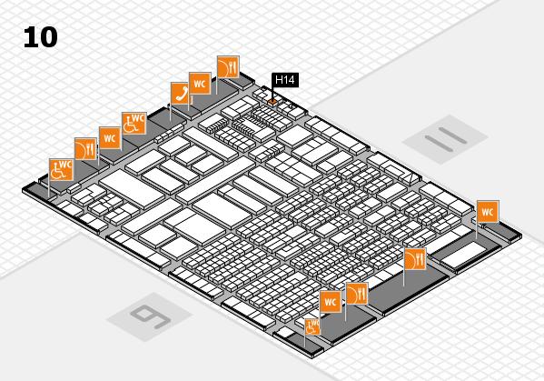 ProWein 2018 Hallenplan (Halle 10): Stand H14