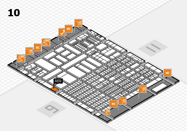 ProWein 2018 Hallenplan (Halle 10): Stand A59