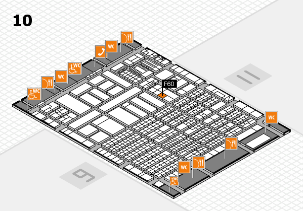 ProWein 2018 hall map (Hall 10): stand F60