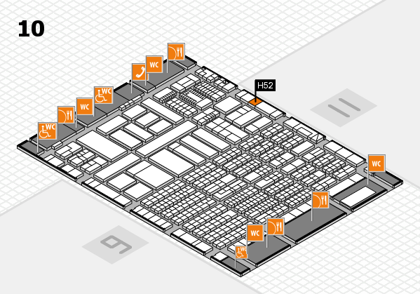 ProWein 2018 Hallenplan (Halle 10): Stand H52