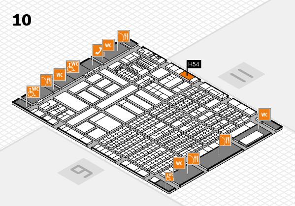 ProWein 2018 Hallenplan (Halle 10): Stand H54