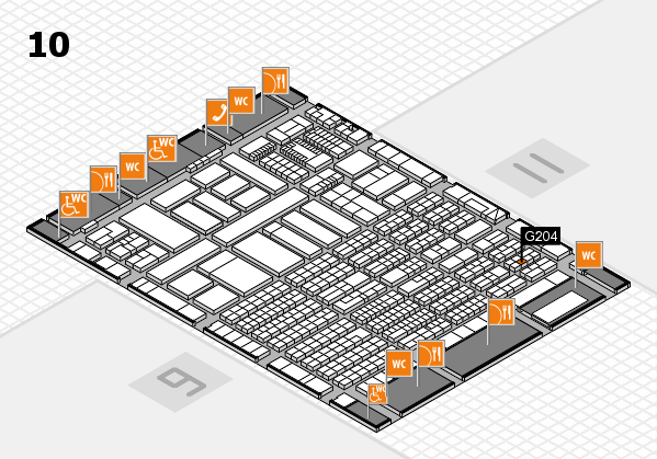 ProWein 2018 hall map (Hall 10): stand G204
