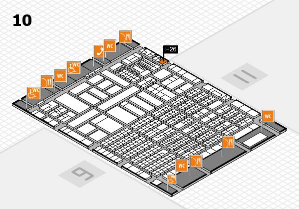 ProWein 2018 Hallenplan (Halle 10): Stand H26