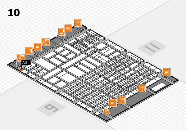 ProWein 2018 Hallenplan (Halle 10): Stand A01