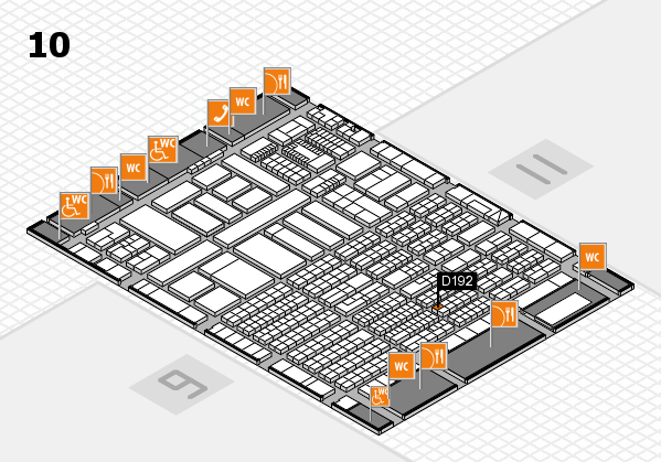 ProWein 2018 Hallenplan (Halle 10): Stand D192