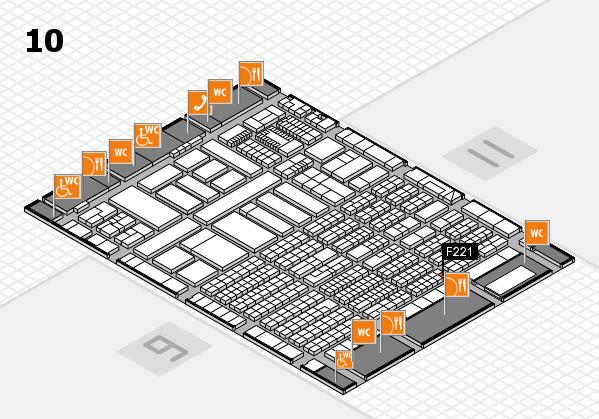 ProWein 2018 Hallenplan (Halle 10): Stand F221