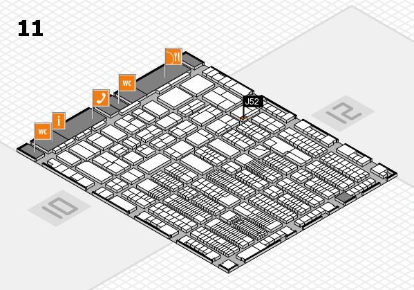 ProWein 2018 Hallenplan (Halle 11): Stand J52