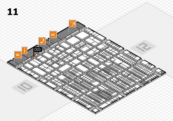 ProWein 2018 hall map (Hall 11): stand D03