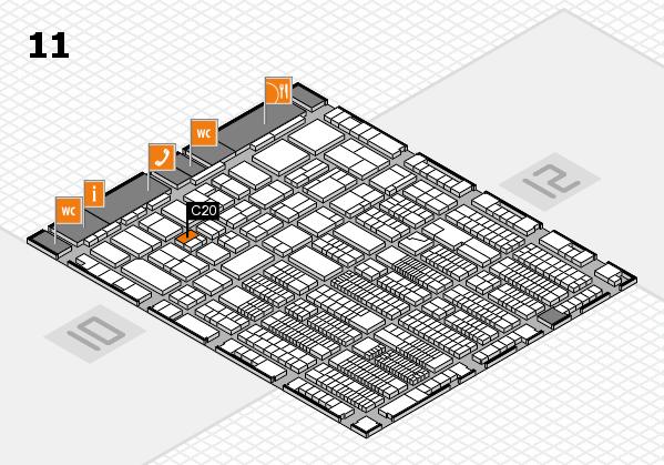 ProWein 2018 Hallenplan (Halle 11): Stand C20