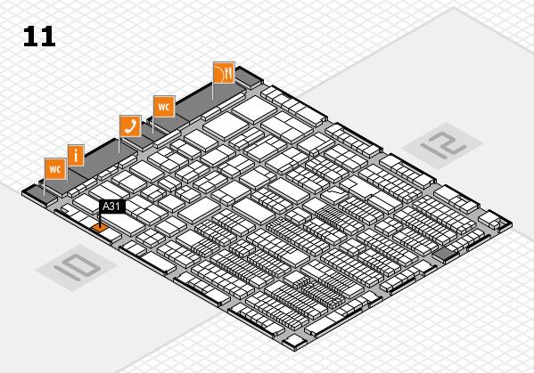 ProWein 2018 Hallenplan (Halle 11): Stand A31