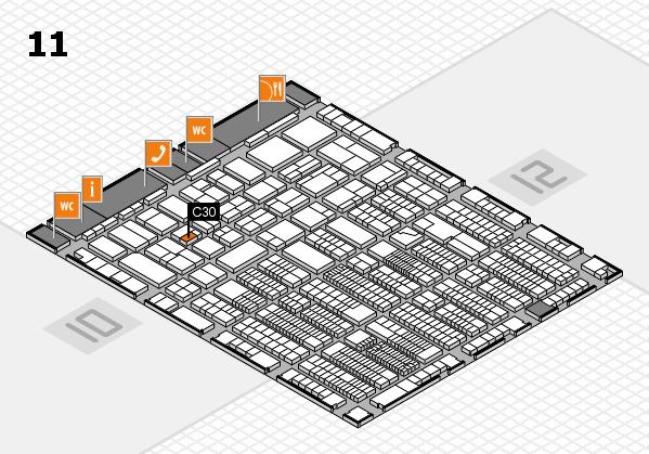 ProWein 2018 Hallenplan (Halle 11): Stand C30