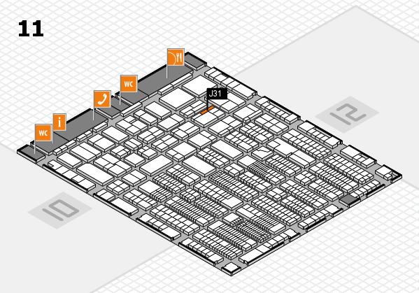 ProWein 2018 Hallenplan (Halle 11): Stand J31