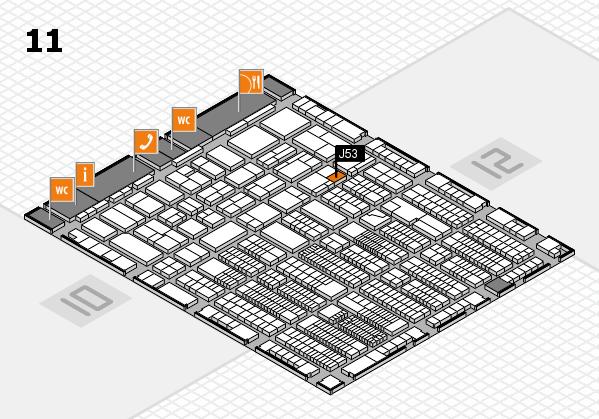 ProWein 2018 Hallenplan (Halle 11): Stand J53