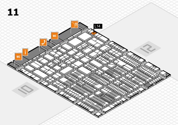 ProWein 2018 Hallenplan (Halle 11): Stand L14