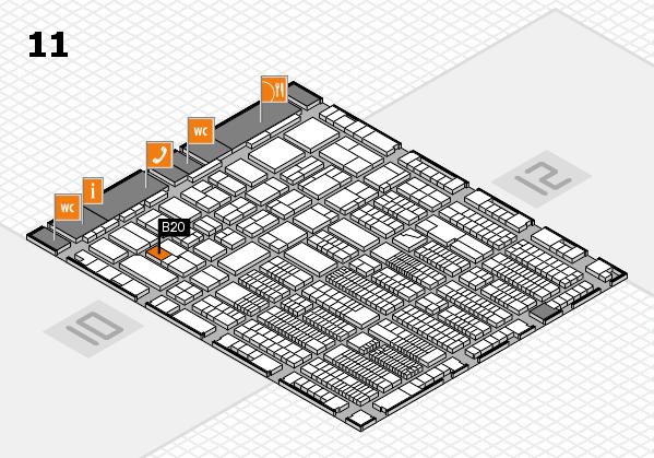 ProWein 2018 Hallenplan (Halle 11): Stand B20