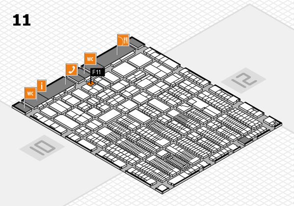 ProWein 2018 Hallenplan (Halle 11): Stand F11